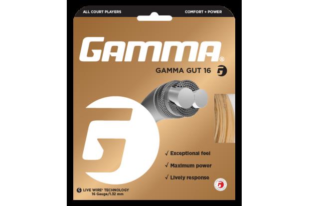 Теннисные струны Gamma Gut Gold